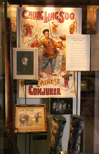 Chung Lin Soo exhibit with the rifle that ended his life.