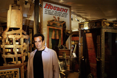 Copperfield with some of his collection.