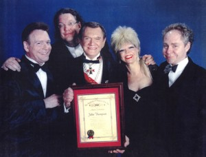 Johnny Thompson, Pamela Hayes, Penn & Teller and Fielding West at the Magic Castle
