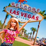 Barbie visits Las Vegas