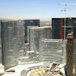 May 2009: A close-up look at CityCenter's ARIA Resort & Casino and Vdara Hotel. Photo by CityCenter Land, LLC.