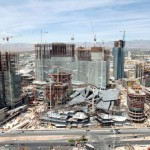 May 2008: Construction is well underway on CityCenter. Photo by CityCenter Land, LLC.