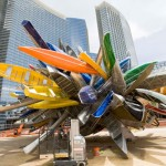 May 2009: Nancy Rubin's sculpture is the first work of art to be completed as part of CityCenter's $40 million public fine art program. Photo by CityCenter Land, LLC.