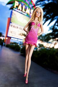Barbie at the Palms
