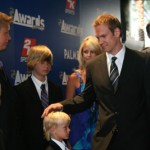 Niklas Lidstrom and family