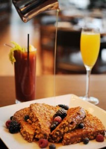 French toast, mimosa and bloody Mary at Simon