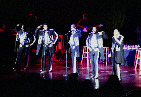 The Temptations performing at Stardust in 2003. Photo courtesy of Las Vegas News Bureau.