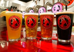 Sin City Brewing Company's beer selection