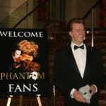 A wax figure of Michael Crawford welcomes fans to the Phantom Fans Week at Venetian.