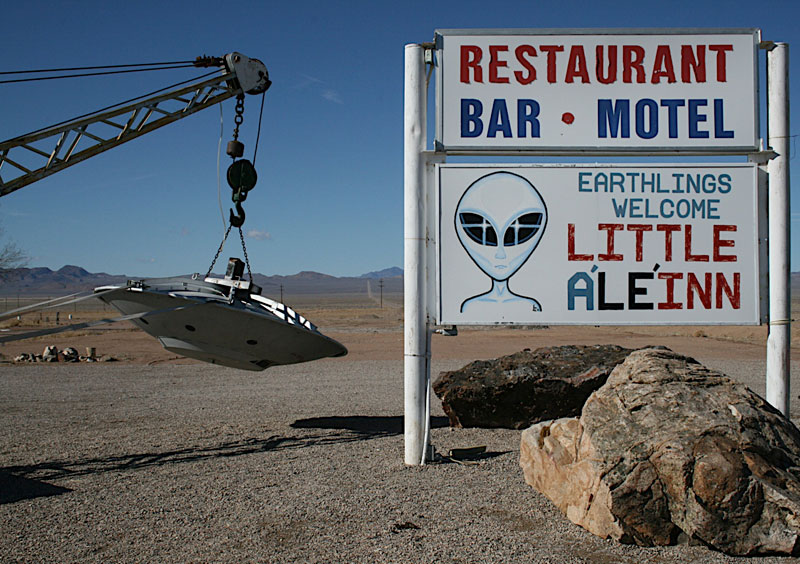 The Little A'Le'Inn in Rachel, Nev., welcomes visitors from all walks of life. Rachel is the town closest to the top-secret military base Area 51, a hotbed for conspiracy theories on alien life.