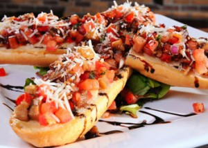 Eggplant Bruschetta at Remedy's
