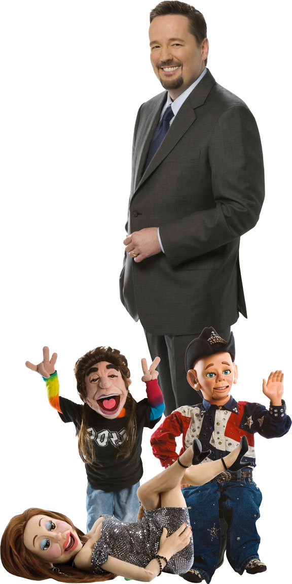Terry Fator and some his cast of characters
