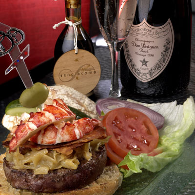 The $777 burger at Le Burger Brasserie