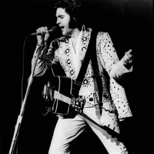 Elvis performs at the Hotel International, now the Las Vegas Hilton.