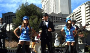 Matt Goss performs at the announcement of his new show at Cleapatra's Barge in Caesars Palace.