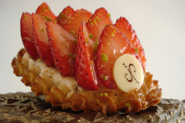A strawberry tart at Jean Philippe Pâtisserie