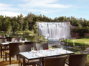 The patio at The Country Club at Wynn