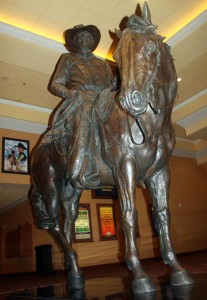Benny Binion statue at South Point