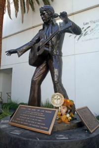 Elvis statue at Las Vegas Hilton