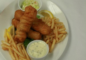 Fish-and-Chips at J.C. Wooloughan's