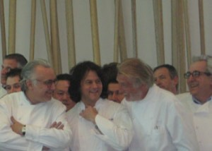 From left to right: Chefs Alain Ducasse, Kerry Simon, Pierre Gagnaire