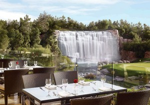The Country Club overlooking the waterfall at the 18th hole