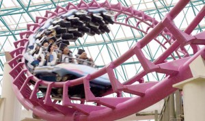 The Canyon Blaster roller coaster at Circus Circus