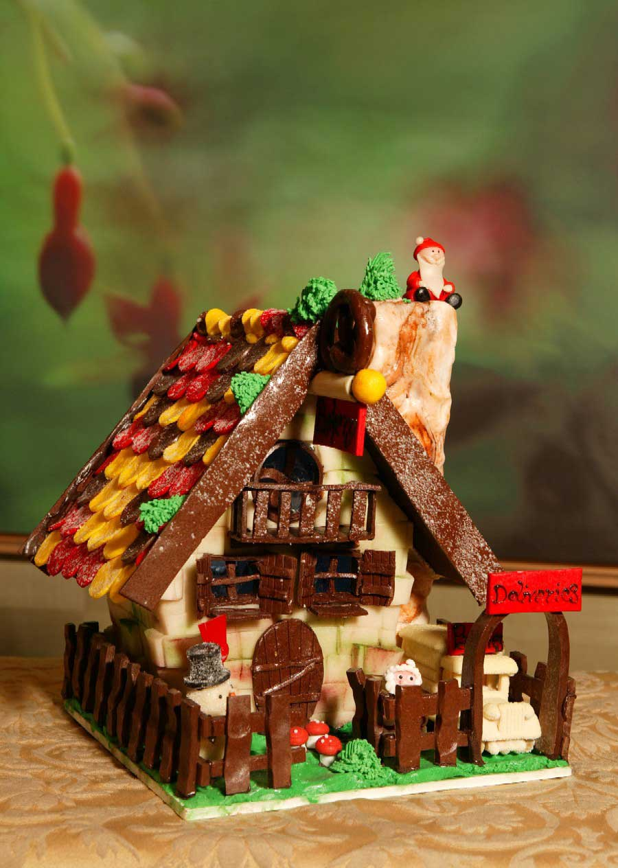 Modern Gingerbread Village Template Pattern - Resume Template ...