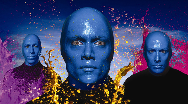 The Blue Man Group has enjoyed more than 10 years on the Strip without ever saying a word. Photo by James Porto.