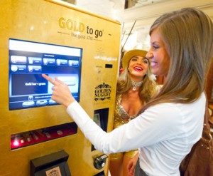 Unveiling of the 1st GOLD to go ATM machine in Las Vegas in the Gold Tower Lobby at The Golden Nugget Casino in Las Vegas, NV on Wednesday. Photo by Erik Kabik.