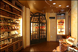 Casa Fuente's humidor contains some of the most exclusive lines of Artura Fuente cigars in the world.