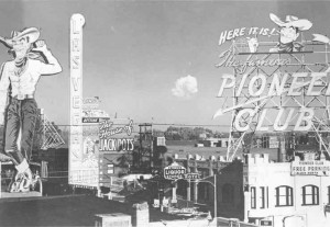 Fremont street atomic bomb test grayscale