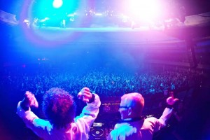 DJ duo Manufactured Superstars spin at XS as part their residency at the nighclubt inside Encore.