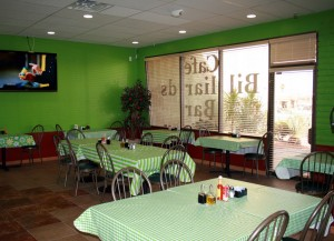 The café is warm, friendly and classically Italian.