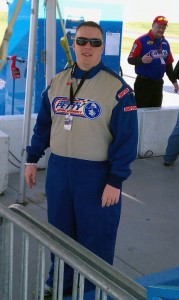 VEGAS.com writer Justin Lawson prepares to go racing at the Richard Petty Experience at Las Vegas Motor Speedway.