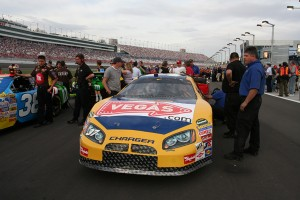 John Andretti drives the VEGAS.com-sponsored car at the 2007 NASCAR race at the Las Vegas Motor Speedway. This year's Sam's Town 300 will be held March 5 and the Kobalt Tools 400 will take place March 6.