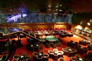 The bacchanal known as Sapphire is one of the more diverse strip clubs in Las Vegas and features themed sky boxes ideal for a bachelor party.