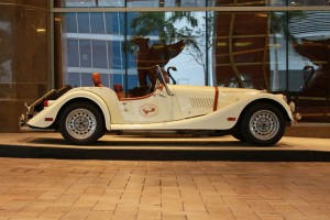 The Morgan Motor Company Plus 8 will be on display in Las Vegas this weekend along with Belvanie Scotch.