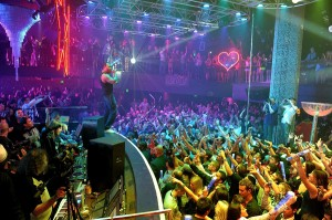 "Flo-Rida performs at dj David Guetta's ""F*** Me I'm Famous"" party at Haze Nightclub on May 29."