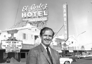 Jackie Gaughan, former owner in front of the old El Cortez.