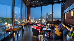 Mandarin Bar sits 23 floors above the Las Vegas Strip in the Mandarin Oriental. Photo courtesy Mandarin Oriental.