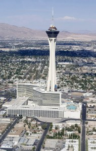 Level 107 Lounge and Air Bar atop the Stratosphere lend themselves to unparraleled panoramas of the Las Vegas Valley. Photo by Las Vegas Sun.