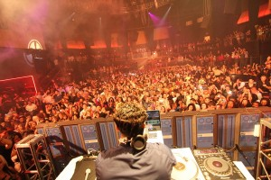 Reality TV star Pauly D spins at Rain Nightclub inside the Palms on June 24. Photo by Joe Fury.