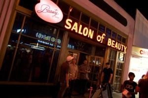 Beauty Bar is outfitted like a 1960s salon.