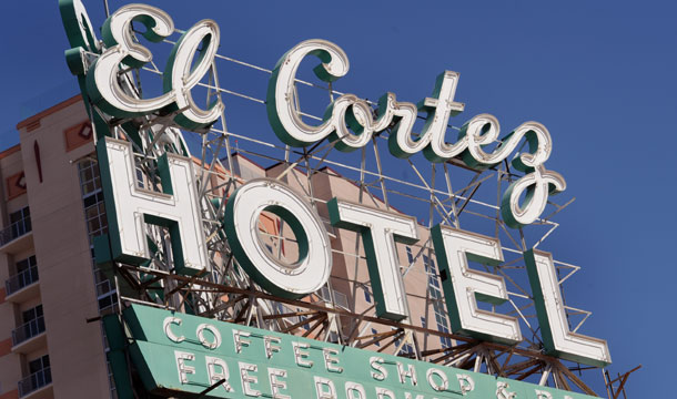 El Cortez roof sign
