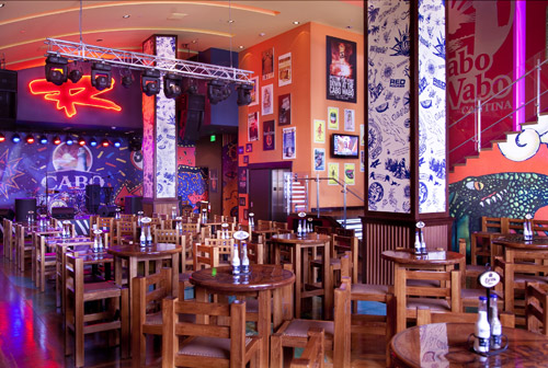 Cabo Wabo Cantina's lively atmosphere is a fun spot to watch the fight.