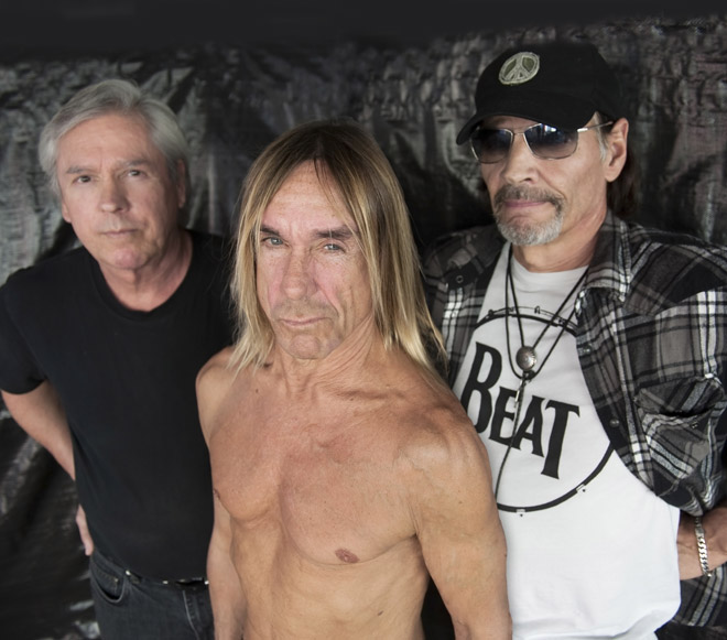 Iggy & the Stooges from left: James Williamson, Iggy Pop and Scott Asheton