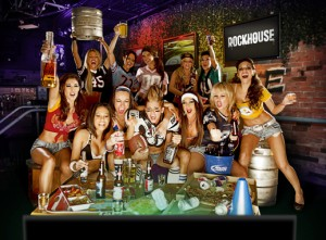 Monday Night Football starts at Rockhouse where football fans can catch the New England Patriots and Miami Dolphins on Monday on 28 high-def TVs while enjoying $30 bottomless domestic drafts.