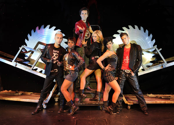 "Jan Rouven and the cast of ""Illusions"" at the Clarion Hotel & Casino"