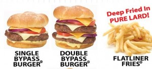 Heart Attack Grill selections.
